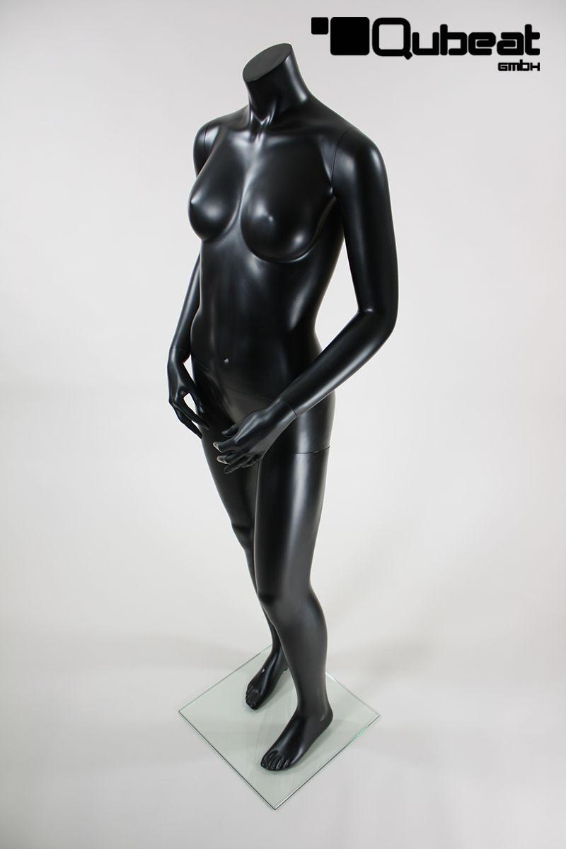 schaufensterpuppen weiblich ohne kopf schwarz matt stehend. Black Bedroom Furniture Sets. Home Design Ideas